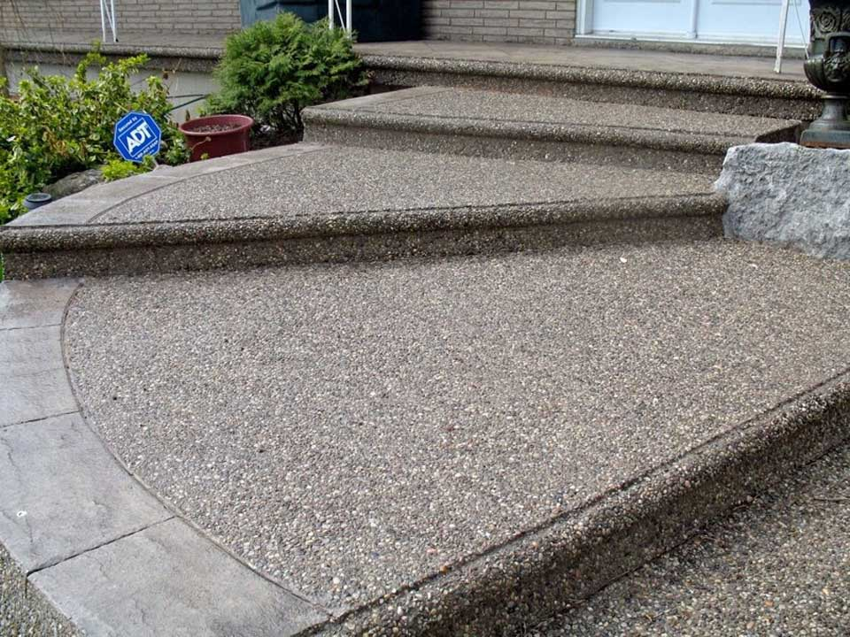 Exposed aggregate master concrete interlocking ltd for Exposed concrete floor