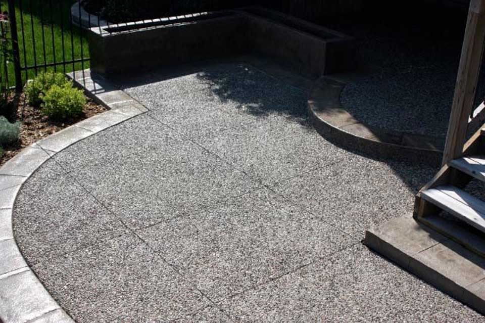 Exposed Patio With Stamped Border