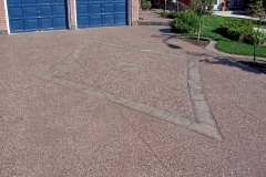 Exposed Driveway with Stamped Diamond.