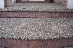 Exposed Front Steps with Bullnose and Stamped Faces.