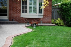 Exposed Front Walkway with Stamped Border