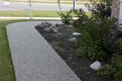 Exposed Aggregate Front Walk