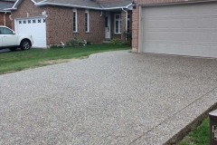 Exposed Driveway, Front Walk. No Colour Added