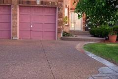 Exposed Driveway & Front Walkway. Lumberman Lane, Oak
