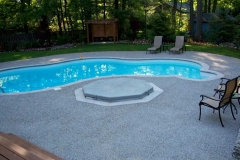 Exposed Pool Deck