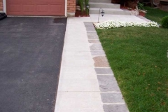 #16 Regular Concrete Broom Finish Curbs and Front Walk with Flagstone Border