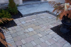 Tumbled Pavers and Flagstone Front walk & Porch