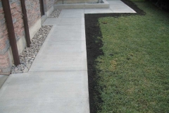 Regular Concrete Broom Finish Walkway and Garden Curb.