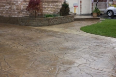 #72 Arizona Flagstone Pattern with Rock Texture Bullnose and Interlocking Garden Wall