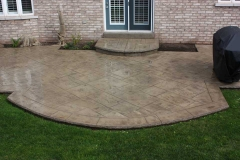 #79York Stone Pattern. Rock Texture Bullnose on steps and patio.