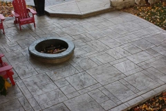 #82 York Stone Pattern. Fire Pit with Rock Texture Bullnose.