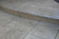 York Stone Stamp with Rock Texture Bullnose