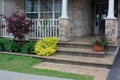#34 York Stone Stamped Concrete with Bullnose.