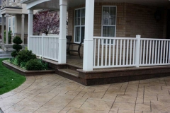 #36 York Stone Stamped Concrete with Bullnose.
