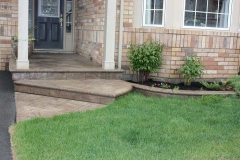 #37 York Stone Stamped Concrete with Bullnose.