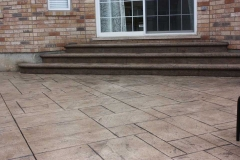 #38 York Stone Stamped Concrete with Bullnose.