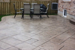 #39 York Stone Stamped Concrete with Bullnose.