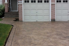 #40 York Stone Stamped Concrete with Bullnose. Riversand Colour