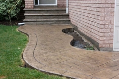 #41 York Stone Stamped Concrete with Bullnose. Riversand Colour