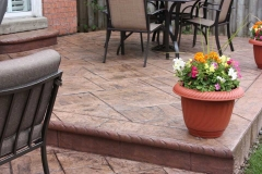 #43 York Stone Patio with Bullnose.