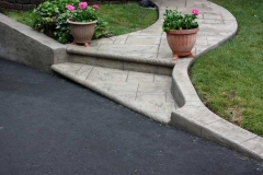 #44 York Stone Stamped Front Walkway wiht Bullnose.