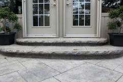 #45 York Stone Stamped Concrete with Rock Texture Bullnose.