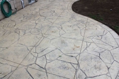 #50 Stamped Concrete Arizona Flagstone. Beige Colour.