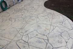 #50 Stamped Concrete Arizona Flagstone. Beige Colour.