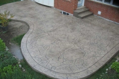 #55 Stamped Concrete Arizona Flagstone. Beige Colour.