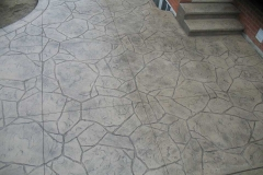 #56 Stamped Concrete Arizona Flagstone. Beige Colour.