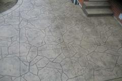 #56 Stamped Concrete Arizona Flagstone. Beige Colour.