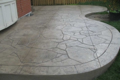 #57 Stamped Concrete Arizona Flagstone. Beige Colour.