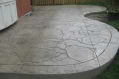 #57 Stamped Concrete Arizona Flagstone. Beige Colour.