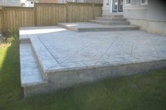 #59 York Stone Pattern Stamped Concrete.
