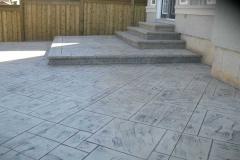 #60 York Stone Pattern Stamped Concrete.