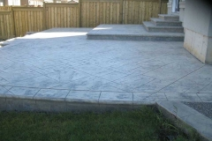 #61 York Stone Pattern Stamped Concrete.