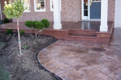 #66 Stamped Concrete York Stone Pattern. Bullnose on Porch and Steps.