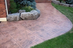 #67 Stamped Concrete York Stone Pattern.