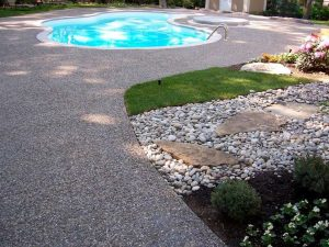 Exposed Aggregate Concrete Is A Decorative Style Of Concrete Suitable For  Use As A Driveway, Sidewalk Or Patio. The Appeal Is In The Finish, Which  Exposes ...