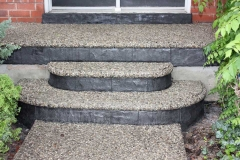 Exposed Porch, Steps and Walkway. Stamped Faces