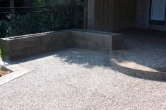 Exposed Patio with Stamped Border & Planter Boxes