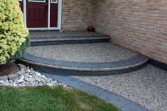Exposed Front walk with Stamped Border