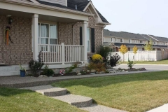 Exposed Front walk, French Curbs, Asphalt Driveway