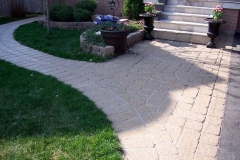 Tumbled Front Walk and Side Walkway
