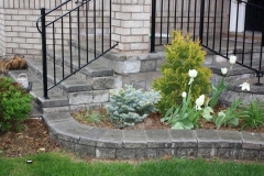 Garden wall, Steps and porch