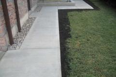 Regular Concrete Broom Finish Walkway and Garden Curb.