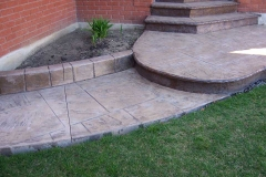 #10 Stamped York Stone Pattern with Bullnose